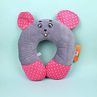 00295-96 Декоративная подушка в машину Мышка Сонька диаметр 29 см тм Копиця