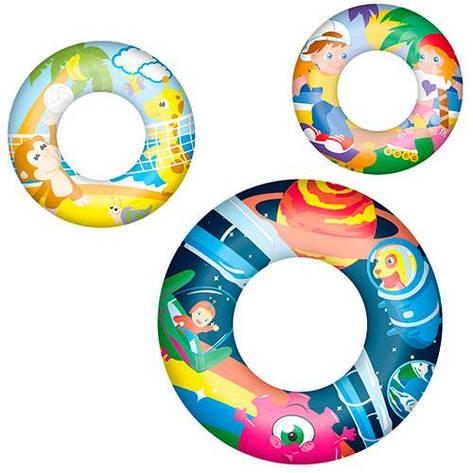 Надувной круг  Bestway 36014 3 вида, 61 см, фото 2