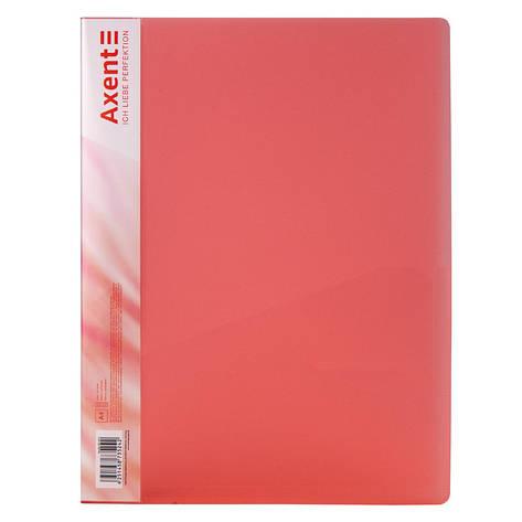 Папка с зажимом, А4, прозрачная красная, фото 2