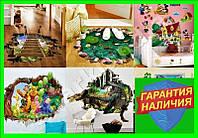 Обычные и объемные 3D интерьерные наклейки на стены и пол Для детей и взрослых