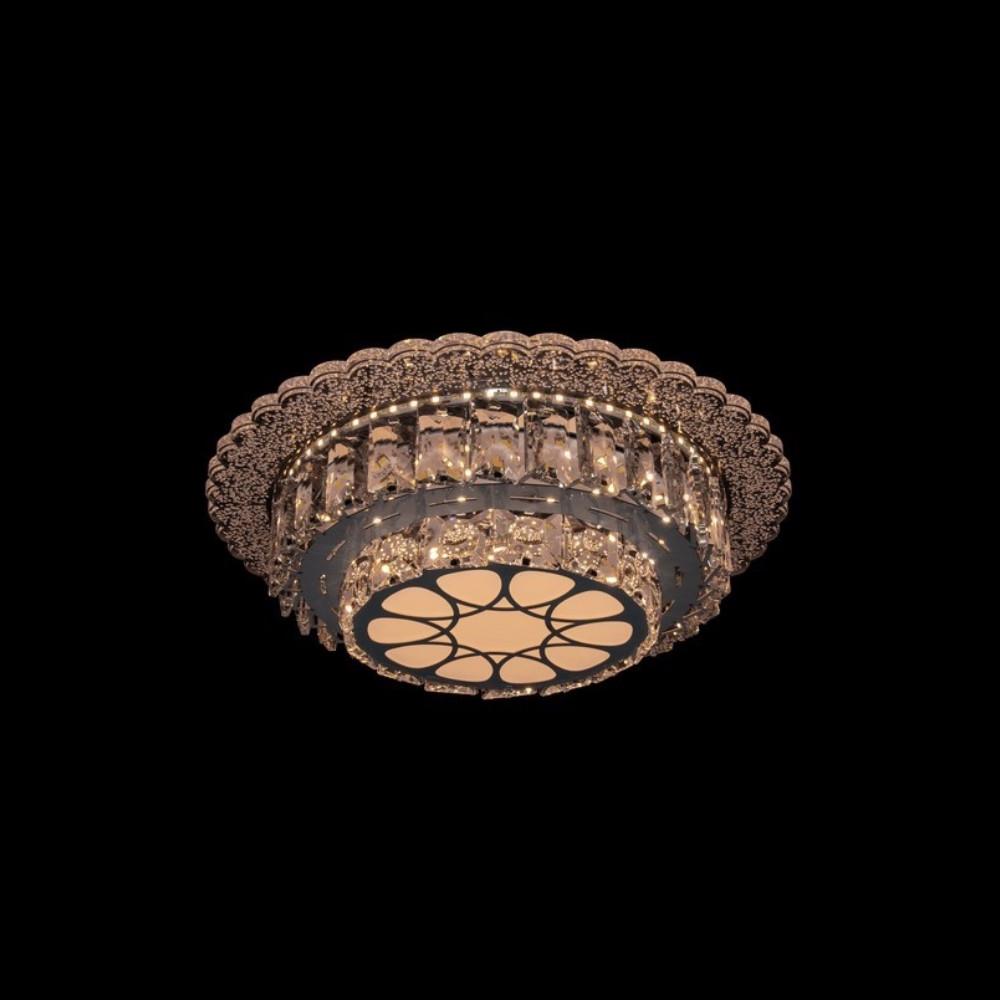 Круглая светодиодная люстра СветМира хром 50 Вт 300 мм. LS-6739/300