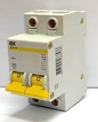 Автоматический выключатель 2 полюсный 16А (iek)