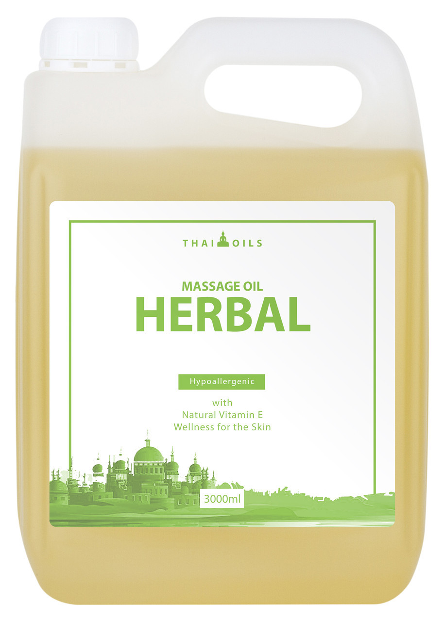 Профессиональное массажное масло «Herbal» 3000 ml для массажа (професійне масажне масло для масажу)