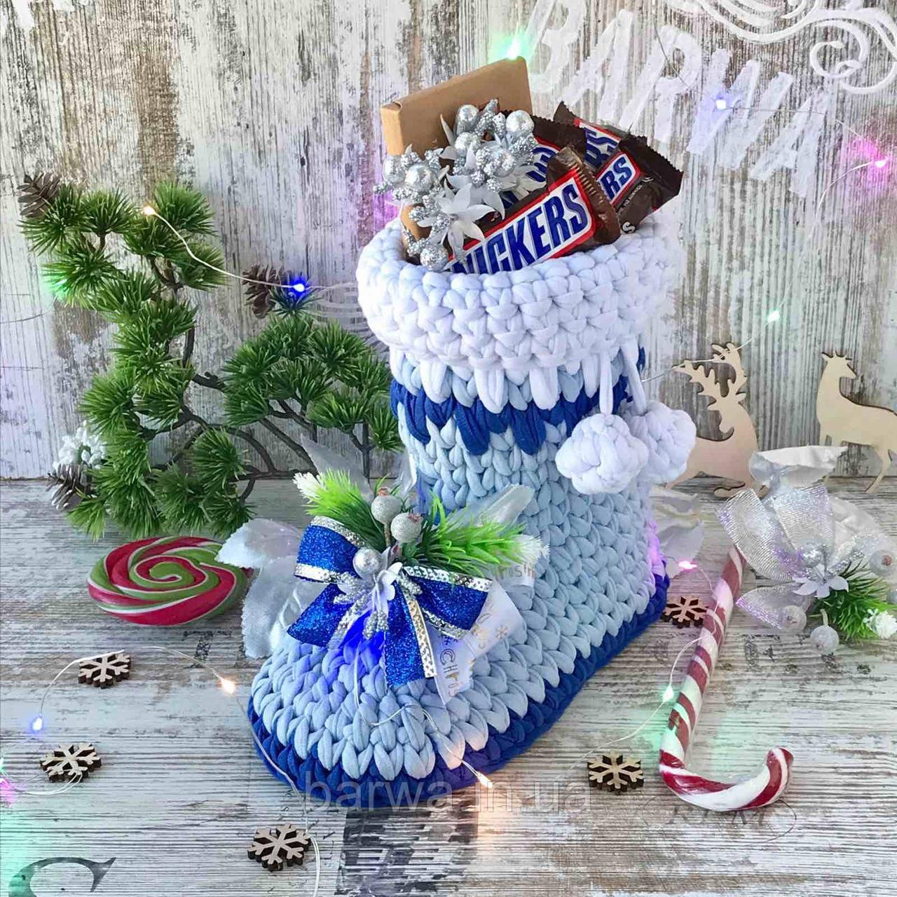 Новогодний сапожок  дед мороз