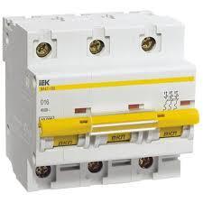 Автоматический выключатель 3 полюсный 16А ( iek )