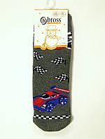 Махровые детские носки с силиконом на стопе с машинкой