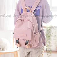 Рюкзак розовый в корейском стиле унисекс для ноутбука учебы
