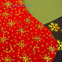 Новогодний носок, новогодний сапог, сапожок для подарков Деда Мороза H-33-1, фото 2