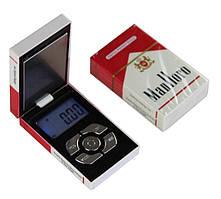 """Карманные ювелирные электронные весы SUNROZ в форме пачки сигарет """"Manlloro"""" 0,01-500 гр (SUN6186)"""
