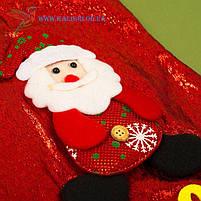 Новогодний носок, новогодний сапог, сапожок для подарков Деда Мороза H-19-2, фото 2