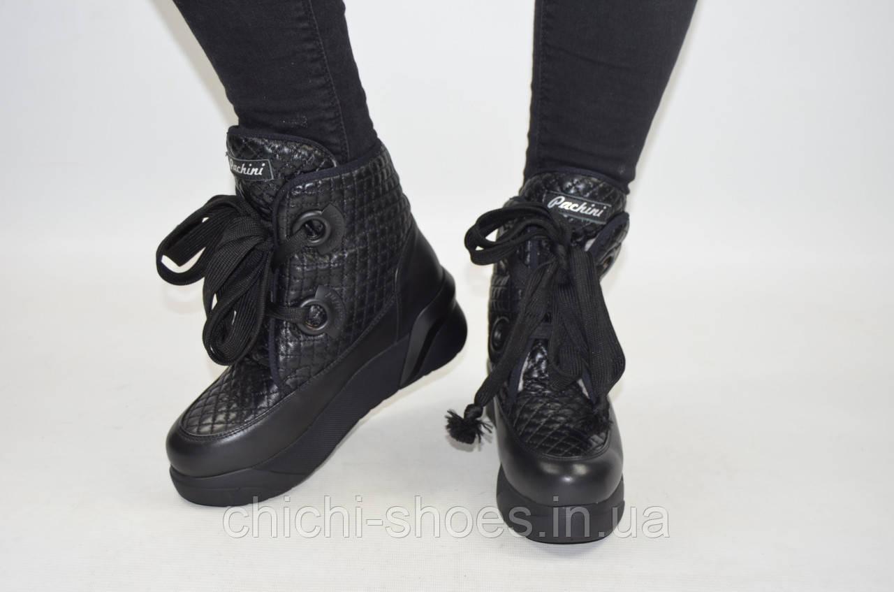 Ботинки женские зимние Carlo Pachini 4-5008-19-11 чёрные кожа