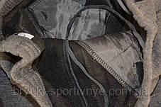 Брюки спортивные зимние мужские под манжет c цветными молниями на карманах, фото 3