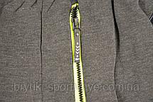 Брюки спортивные зимние мужские под манжет c цветными молниями на карманах, фото 2