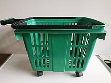 Пластиковые корзинки для магазина, супермаркета, корзинки покупательские б/у, фото 2