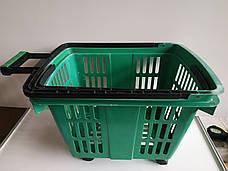 Пластиковые корзинки для магазина, супермаркета, корзинки покупательские б/у, фото 3