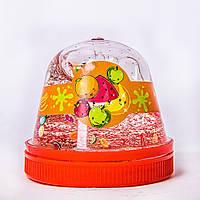 "Слайм Slime-gum ""Mr.Boo"" кристальный с фимо, фрукты, 80гр"