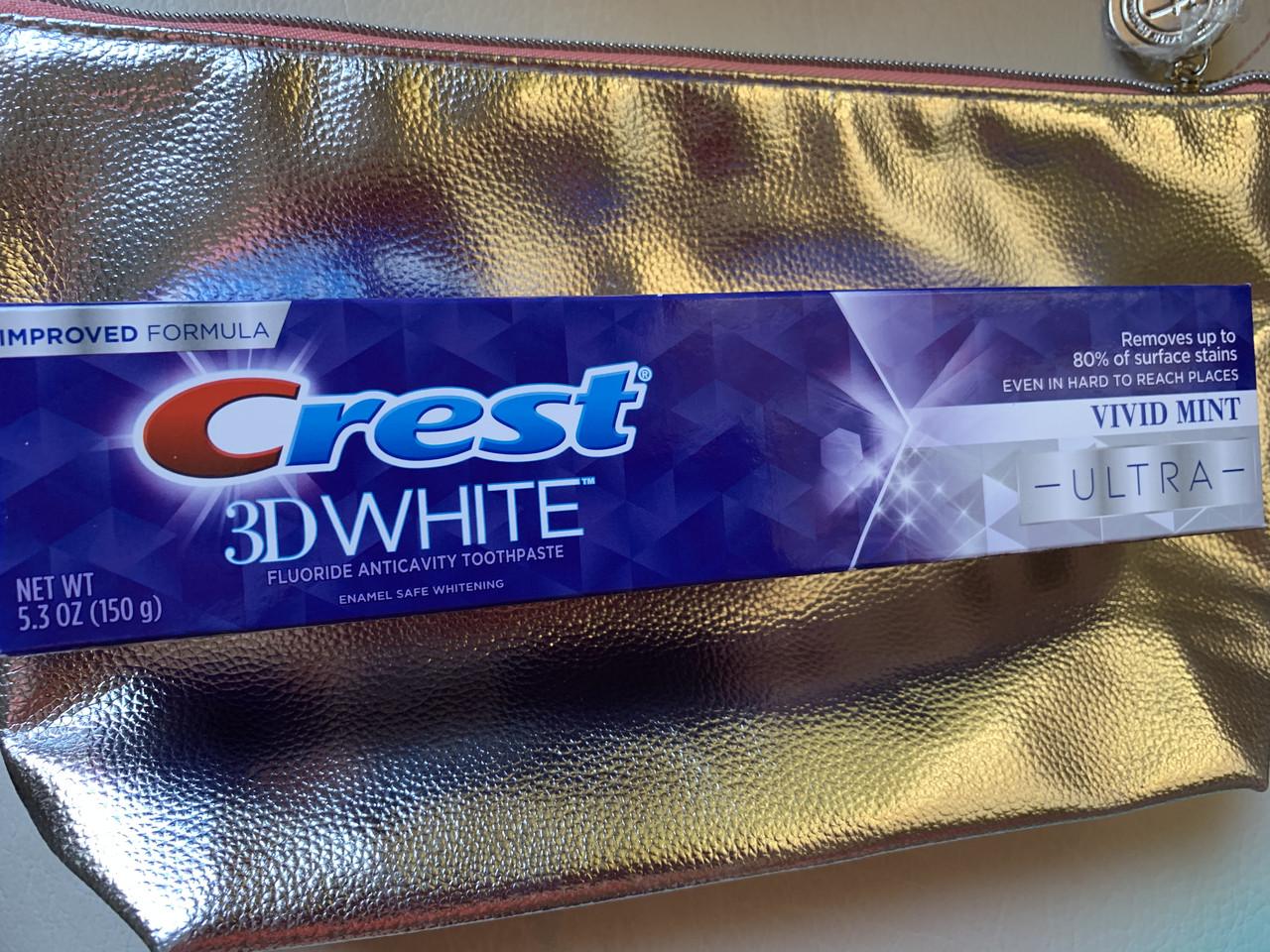 Отбеливающая паста с защитой эмали Crest 3D White Ultra Vivid Mint