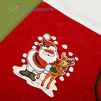 Новогодний носок, новогодний сапог, сапожок для подарков Деда Мороза H-34-1, фото 2