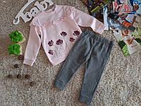 Детский костюм для девочки, на флисе, Fagottino (OVS) Италия, 2-3 года 92 см