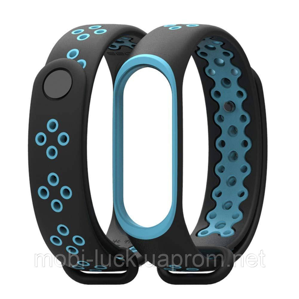 Ремешок Gasta Sport for Xiaomi Mi Band 3 and Mi Band 4 color Black/Blue