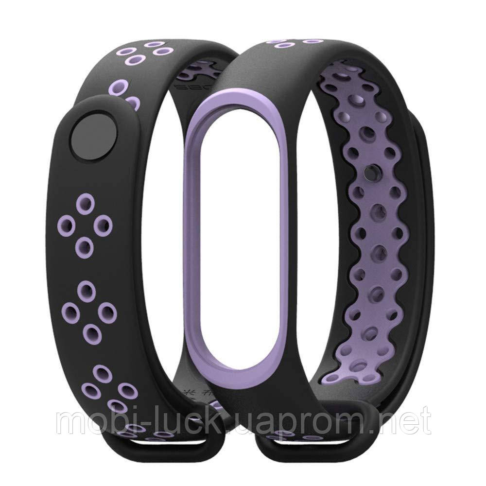 Ремешок Gasta Sport for Xiaomi Mi Band 3 and Mi Band 4 color Black/Purple