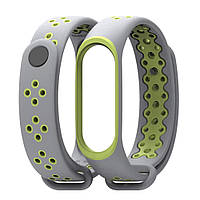 Ремешок Gasta Sport for Xiaomi Mi Band 3 and Mi Band 4 color Grey/Green