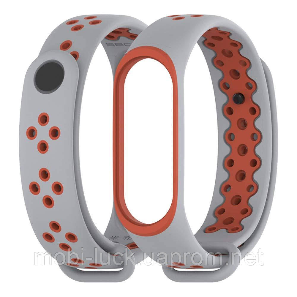 Ремешок Gasta Sport for Xiaomi Mi Band 3 and Mi Band 4 color Grey/Orange