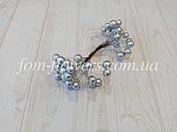 Калина глянцевая цвет серебро, 1,1 см