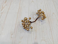 Калина глянцевая цвет золото, 1,1 см