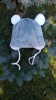 Шапка Lux Снежка зимняя Размер:0-3 мес., 3-6 мес.Серая