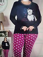 Женские хлопковые пижамы больших размеров