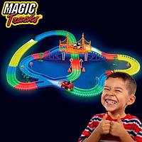 Волшебный конструктор-автотрек Трасса Magic Tracks 360 деталей, светящийся конструктор