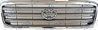 Решетка радиатора Toyota Land Cruiser 100 1998-2008 хром./серый