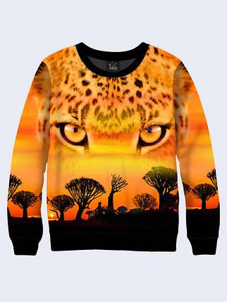 Свитшот женский Африканский леопард, фото 2