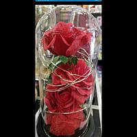 Роза в колбе: оригинальный подарок на любой праздник,20см.