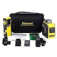 Лазерный уровень 3D с лазерным приёмником Firecore F93T XG зелёные лучи