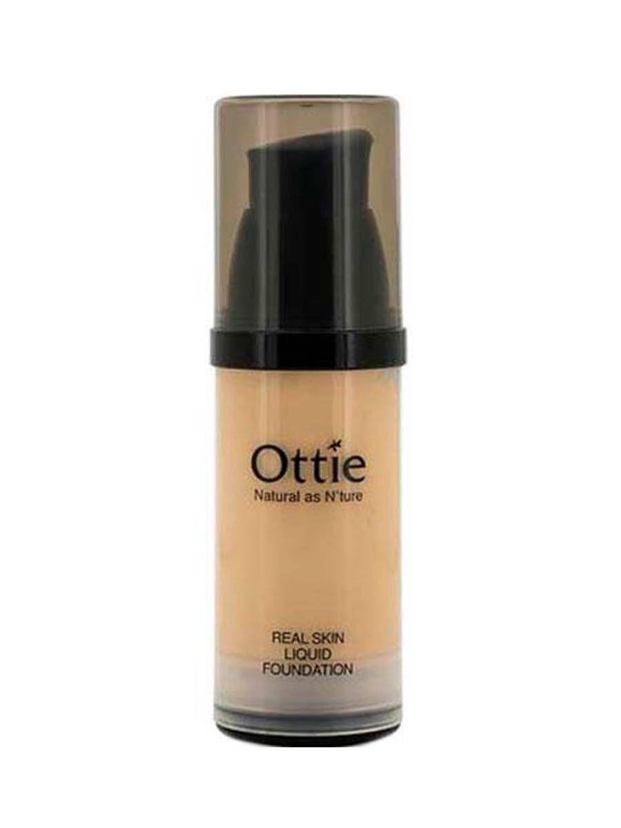 Жидкая тональная основа под макияж Ottie Real Skin Liquid Foundation #1