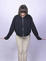 Черный бомбер женский Boohoo, размер XS S M, арт. 0481-0972