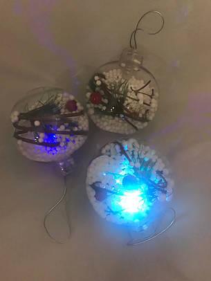 Декор новогодний.Шарики новогодние светящиеся.Елочные шары., фото 2