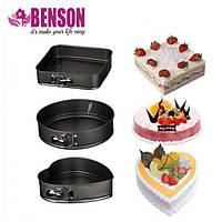 Набор разъемных форм для выпечки Benson BN-1031 | Формы для выпекания 3 шт