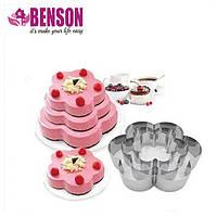 Набор форм для выпечки из нержавеющей стали в виде цветка Benson BN-1037