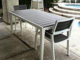 Стол садовый уличный Keter Harmony White - Light Grey ( белый - светло серый ), фото 4