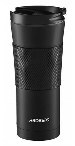 Термокружка Ardesto To Go 450 мл Нержавеющая сталь Черный (AR2645SMB), фото 2