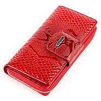 Кошелек-клатч женский KARYA 17009 кожаный Красный, Красный