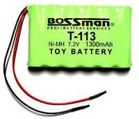 Аккумулятор Bossman T113, 1300mAh, 7.2V, 6*AA, Ni-Mh
