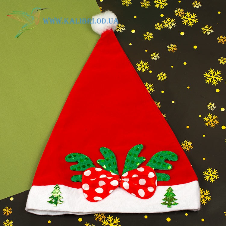 Новорічна шапка Діда Мороза H-8-1