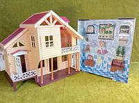 Игровой дачный домик Happy Family 012-03, свет, флоксовое животное, аксессуары, аналог Sylvanian Families