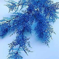 Искусственная ветка для новогоднего декора (голубая 85 см), фото 3