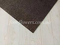 Глиттерный фоамиран, 20х30 см, темно-серый., фото 1