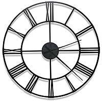 Дизайнерские настенные металлические часы лофт большие римские Weiser LONDON2 (100 см) [Металл]